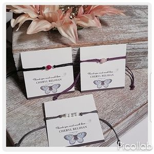 Jewelry - Set of Three Gemstone Slipknot Bracelets